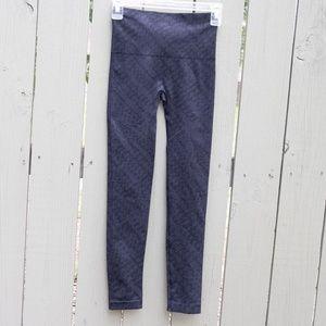 Spanx Navy Blue and Black Leggings
